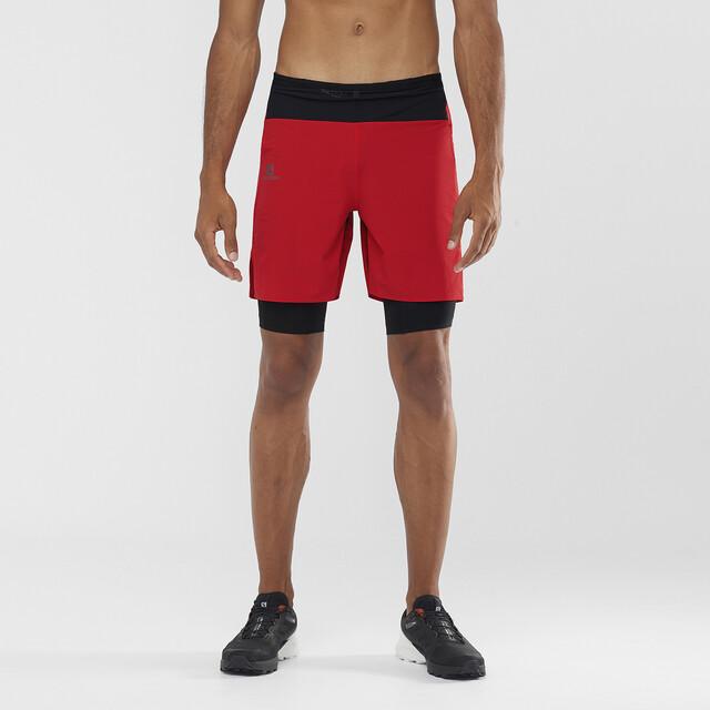 Salomon Exo Twinskin Shorts Heren, fiery redwhite